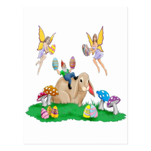 Easter Bunny & Friends Postcard