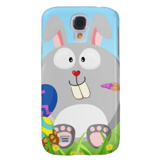 Easter bunny from the circle month series samsung galaxy s4 case