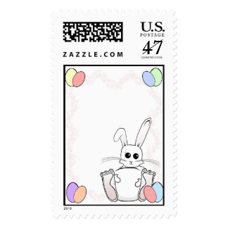 Easter Bunny Fun Time Postage Stamp