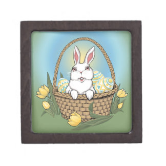 Easter Bunny Gift Box Easter Bunny Art Jewelry Box