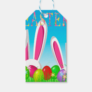 Religious easter gift tags zazzle easter bunny gift tags negle Choice Image