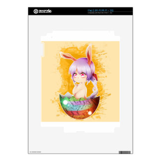 Easter Bunny Girl Decal For The iPad 2