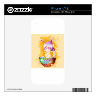 Easter Bunny Girl Skins For The iPhone 4S