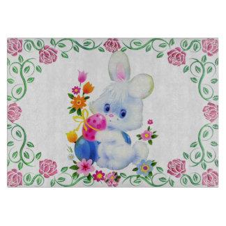Easter Bunny Glass cutting board