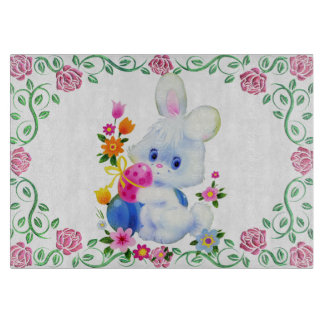 Easter Bunny Glass cutting board