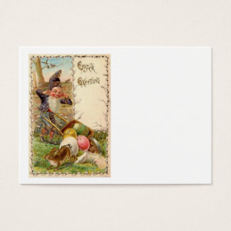 Easter Bunny Gnome Painted Colored Egg Business Card