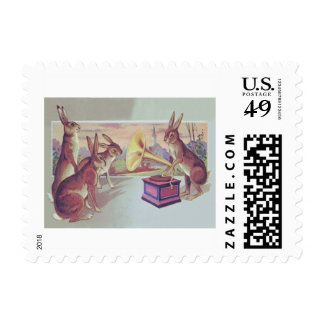 Easter Bunny Gramophone Phonograph Postage