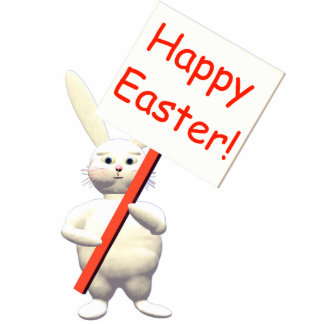 Easter Bunny Greet Cutout