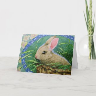 Easter Bunny Greeting Card card