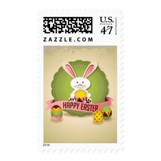 Easter Bunny Greeting Postage