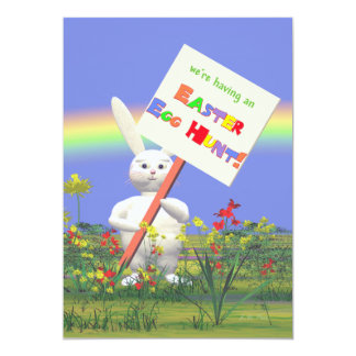 Easter Bunny Greetings Easter Egg Hunt Card