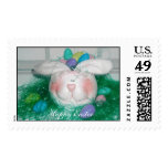 Easter bunny, Happy Easter Postage Stamp