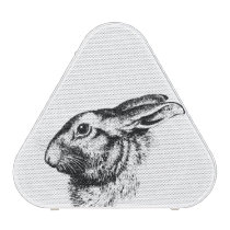 Easter Bunny Hare Rabbit Vintage Illustration Bluetooth Speaker