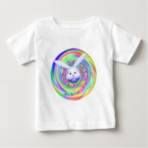 Easter Bunny Head Spin Baby T-Shirt