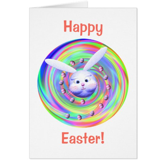 Easter Bunny Head Spin Card