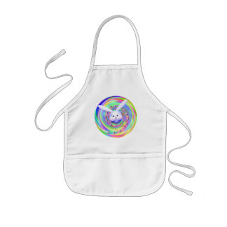 Easter Bunny Head Spin Kids' Apron