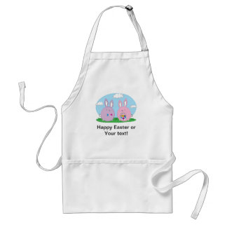 Easter Bunny Hiding Eggs Adult Apron