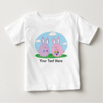 Easter Bunny Hiding Eggs Baby T-Shirt
