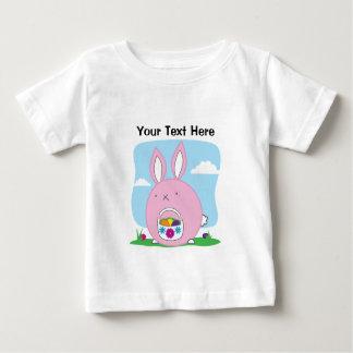 Easter Bunny Hiding Eggs Baby T-Shirt