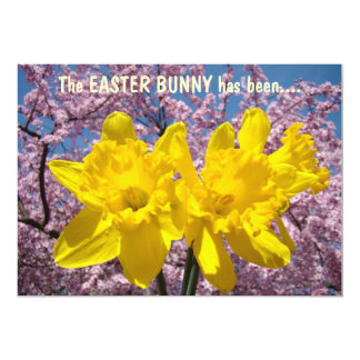 Easter Bunny hiding eggs candy Invitations Party