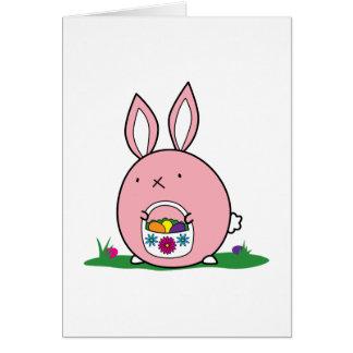Easter Bunny Hiding Eggs Card