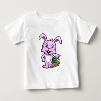 Easter Bunny Holding Basket of Eggs Baby T-Shirt