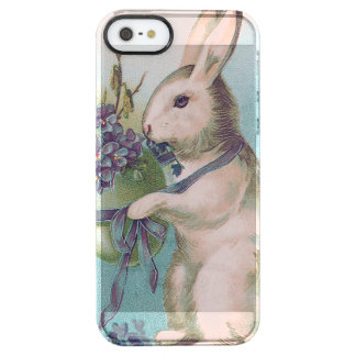 Easter Bunny Holding Colored Egg Clear iPhone SE/5/5s Case