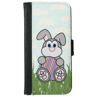 Easter Bunny Holding Egg Flap Wallet Phone Case iPhone 6 Wallet Case