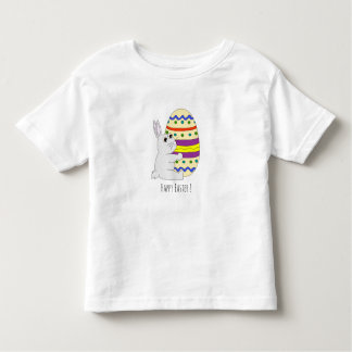 Easter bunny holding painted egg toddler shirt