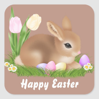 Easter Bunny Holiday fun party sticker