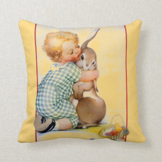 Easter Bunny Hug Throw Pillow
