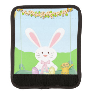 Easter bunny illustration luggage handle wrap