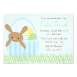 Easter Bunny in a Basket 5x7 Paper Invitation Card