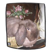 Easter bunny in a basket backpack