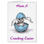 Easter Bunny in a Blue Egg Card