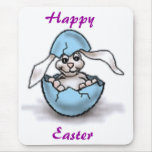 Easter Bunny in a Blue Egg Mouse Pad