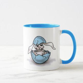 Easter Bunny in a Blue Egg Mug