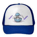 Easter Bunny in a Blue Egg Trucker Hat