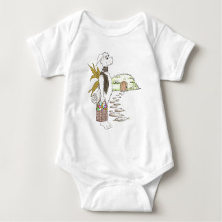 Easter Bunny in a Tux Baby Bodysuit
