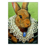 Easter Bunny In A Victorian Lace Collar Greeting Card