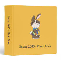 Easter Bunny in Blue Shirt Binder