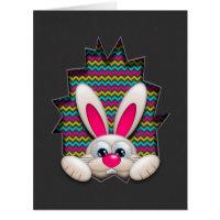 easter bunny in chevron egg hollow