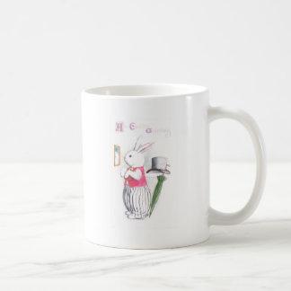 Easter Bunny in Pink Vest Checks Mirror Coffee Mug