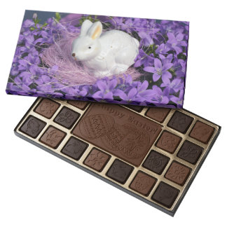 Easter Bunny in Purple Flowers 45 Piece Box Of Chocolates