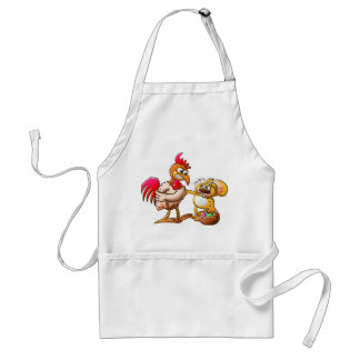 Easter Bunny in Trouble Adult Apron