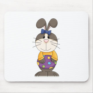 Easter Bunny in Yellow Shirt Mouse Pad