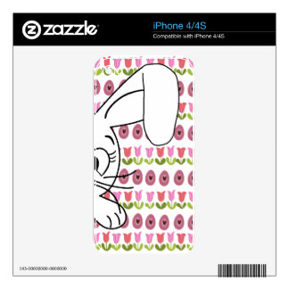 Easter bunny iPhone 4S decal
