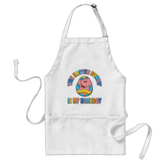 Easter Bunny is my Homeboy Adult Apron