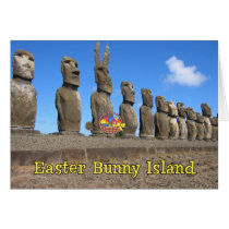 Easter Bunny Island Card