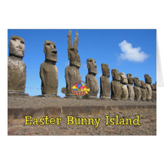 Easter Bunny Island Card